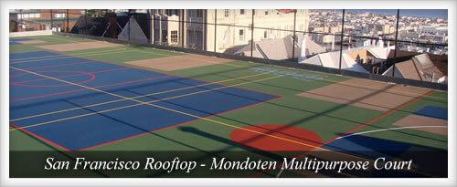 Mondoten Multipurpose Court on San Francisco Rooftop